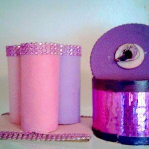 Purple Paper Roll Accessory Holder & Jewelry Box
